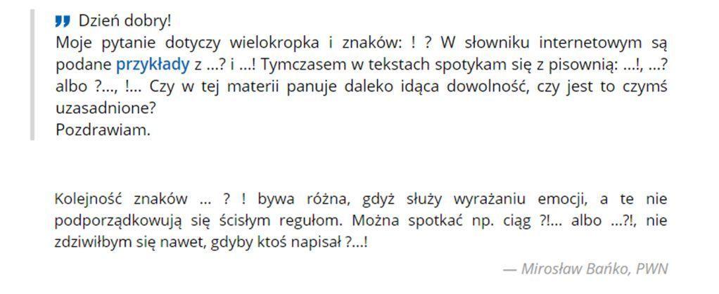 zbieg znaków interpunkcyjnych, Jak sobie poradzić zezbiegiem? (Rzecz ointerpunkcji), Tekstowni.pl
