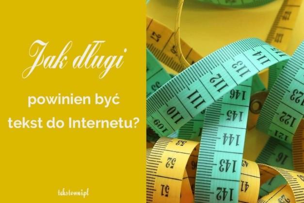 długość tekstów do internetu